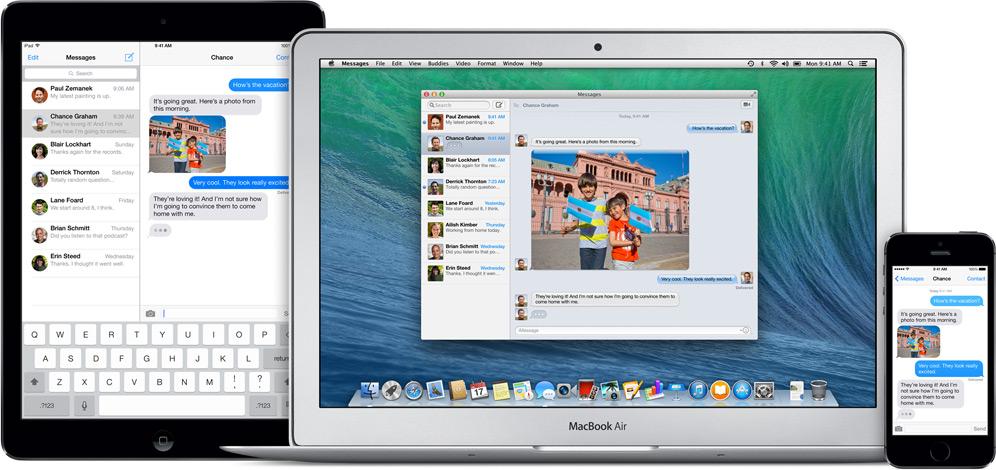 OS X Mavericks: Messages Everywhere