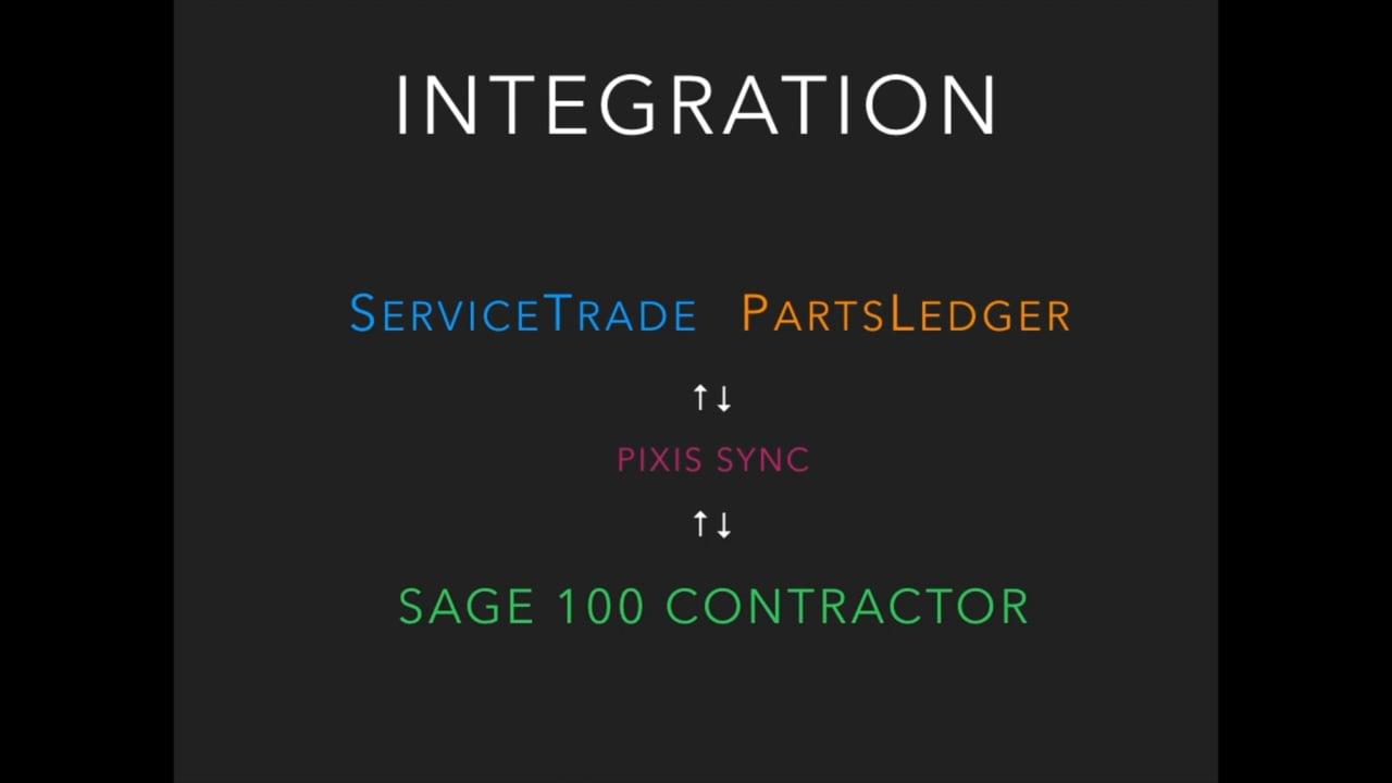Sage 100 ServiceTrade integration