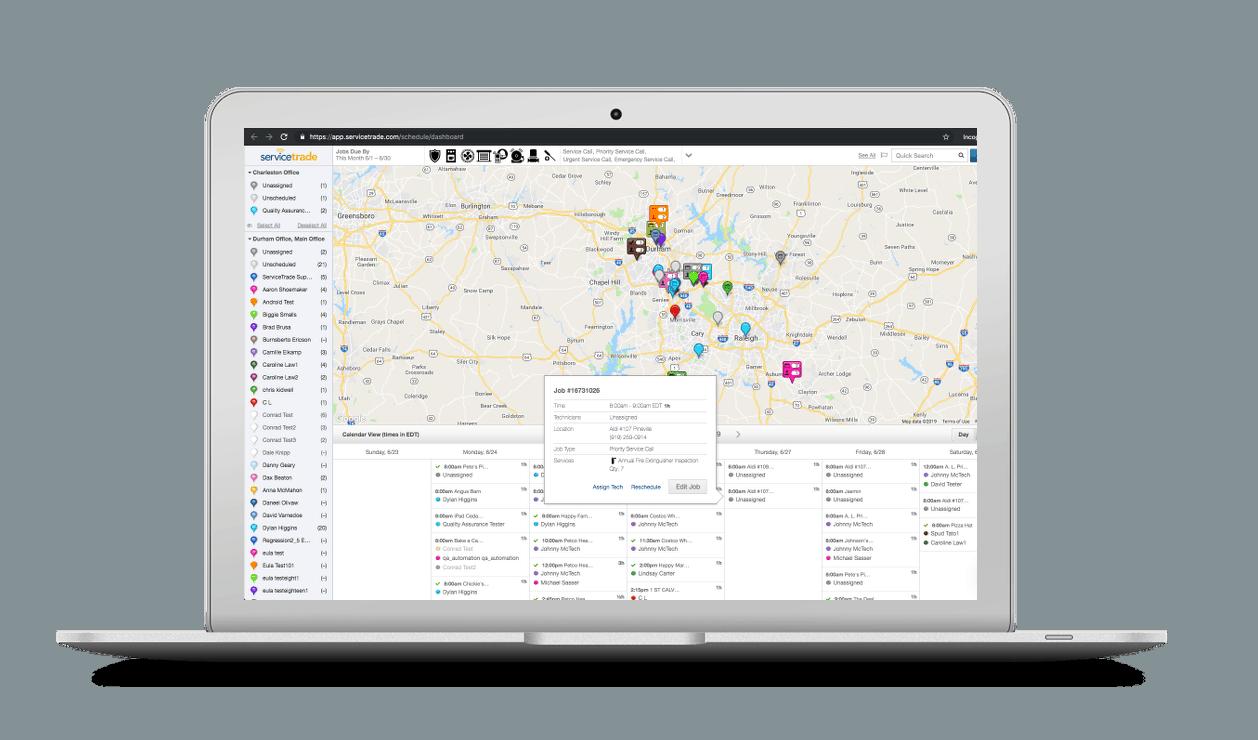 Map-based scheduler